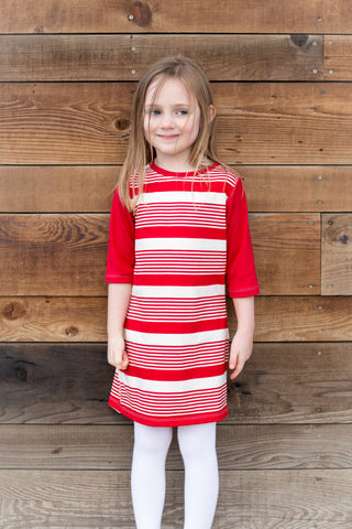 Candy Cane T-shirt Dress