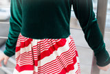 Velvet / Candy Cane Holiday Dress