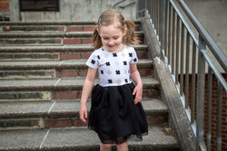 Black Criss Cross Tutu Dress