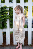 Oatmeal Shoulder Tie Romper