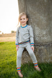 Baby & Toddler Long Sleeve Retro Rainbow Top