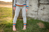 Grey Retro Rainbow Leggings or Joggers