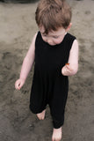 Solid Black Romper