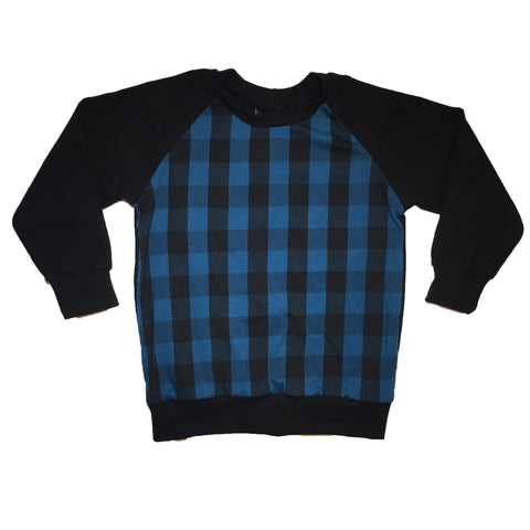 Blue Plaid Raglan