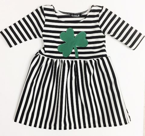 Shamrock St. Patrick's Day / Stripe Dress