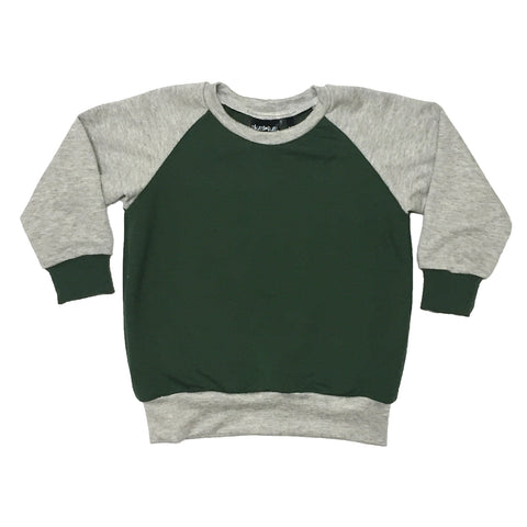 Green / Grey Raglan