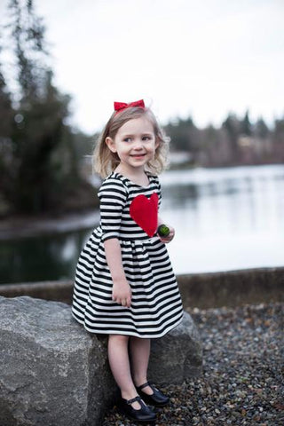 Baby & Toddler Red Heart Patch Dress