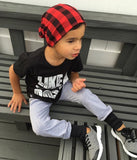 Baby & Toddler Red and Black Buffalo Plaid Beanie