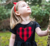 Baby & Toddler Plaid Heart Patch Dress