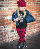Red & Black Buffalo Plaid Baby Leggings