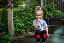 Baby & Toddler Red Heart Patch Leggings