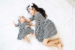 Baby, Toddler, & Girls Mixed Stripe Dress