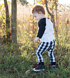 Black and White Buffalo Plaid Leggings & Harems