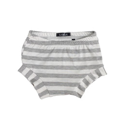 Heather Grey & White Stripe Shorties