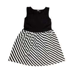 Black / Diagonal Stripe Dress