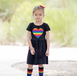 Rainbow Heart Patch Dress
