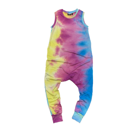 Multi-color Tie Dye Romper