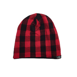 Red & Black Buffalo Plaid Beanie