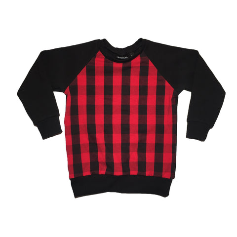Red Plaid Raglan