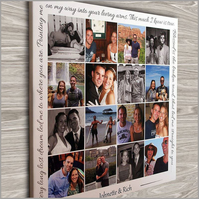 Personalized Photo Collage Canvas