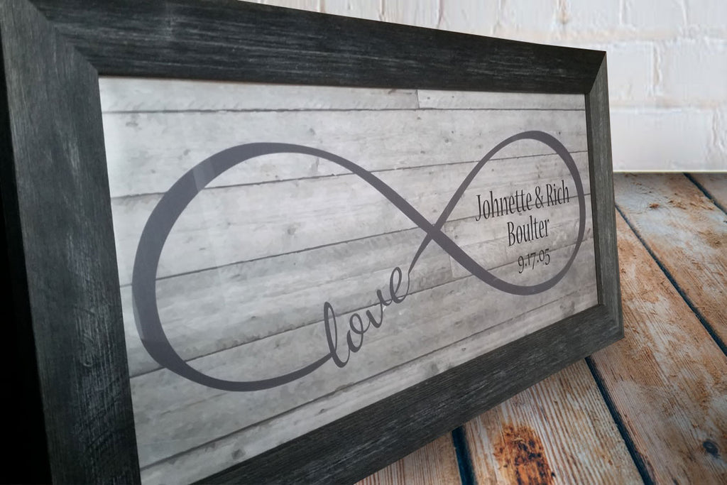 Framed Personalized Infinity Print