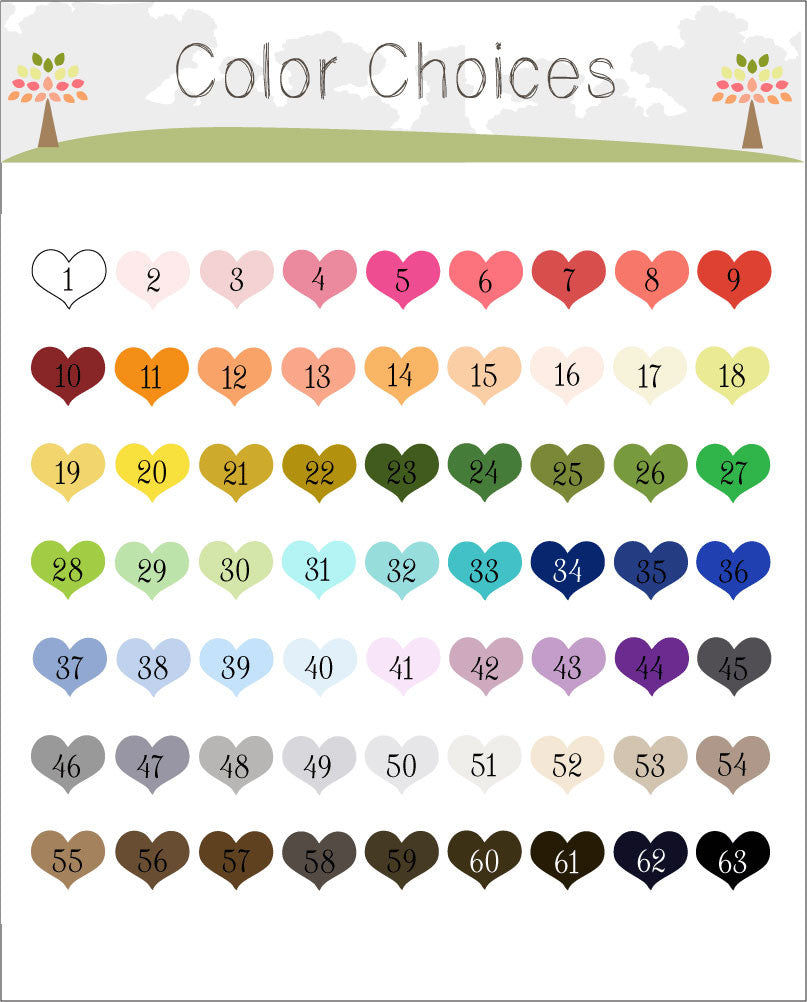 Color Palette for Tree Wedding Guest Book