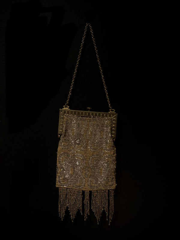 1930s Beaded Fabric Purse