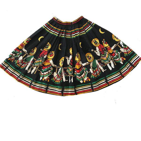 1950's Black Novelty Skirt Mariachi Band