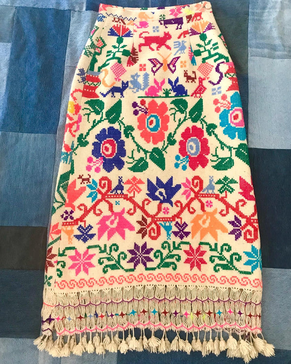 1960's Girasol Embroidered Maxi Skirt