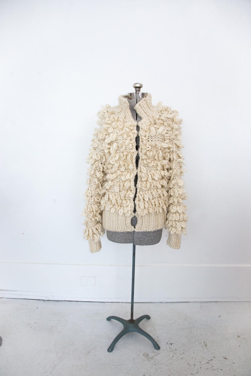 1980's Looped Creme Sweater