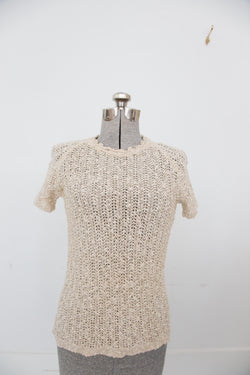 Late 60s Irish Linen Knit Top