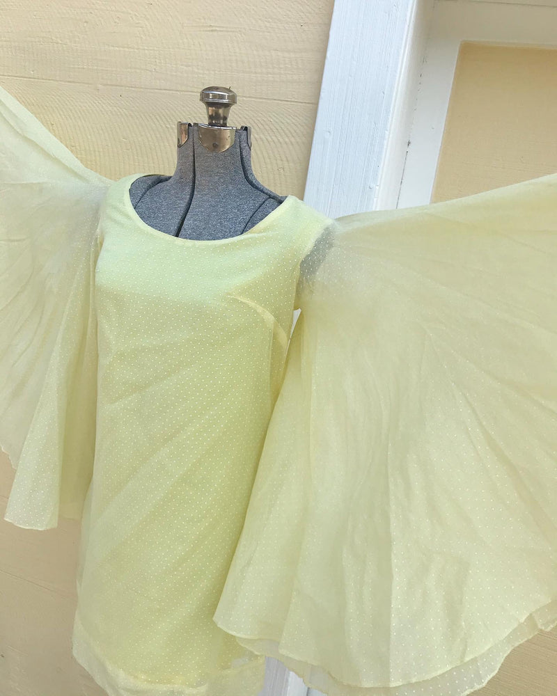 1960s Mini Dress with Angel wings