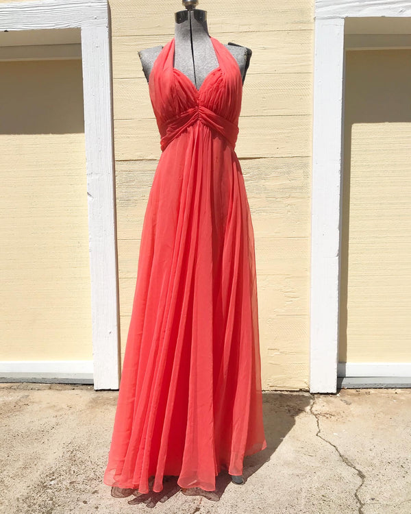 1970s Mike Benet Chiffon Halter dress