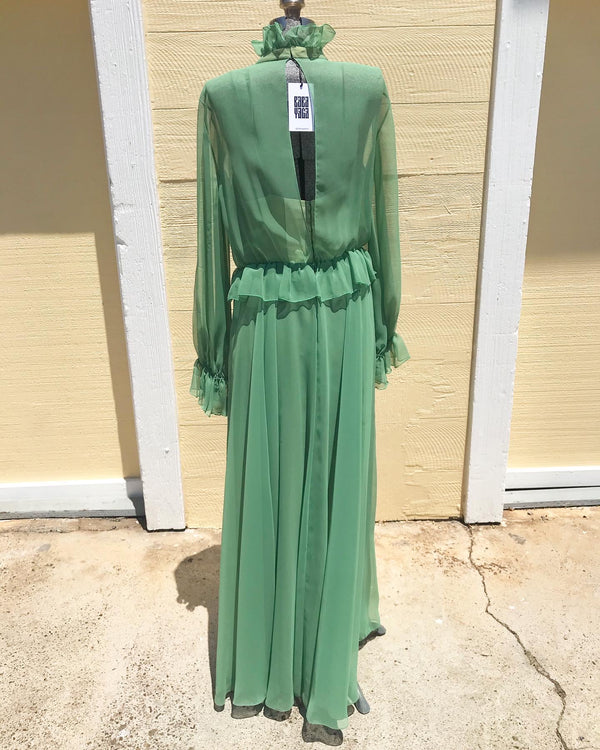 1970s Chiffon Roland Klein dress