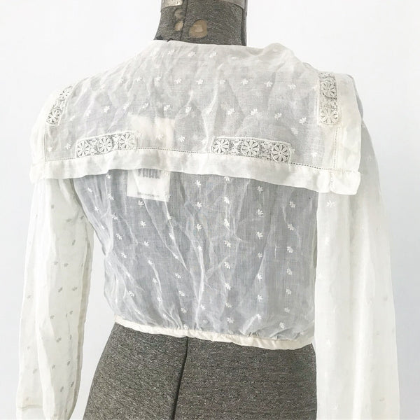Victorian Era Blouse with Sailor Collar