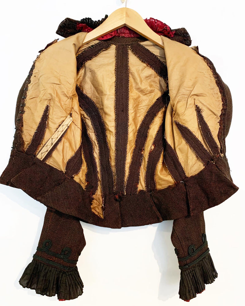 Wool Edwardian Jacket with Mutton Sleeves