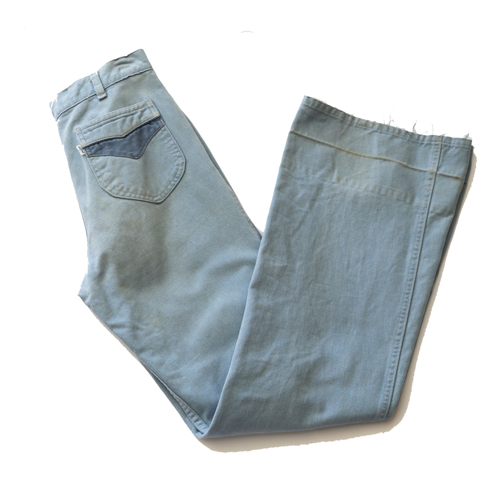 70's Levi's brushed denim bell bottom jeans