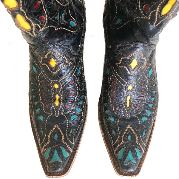 Vintage Corral Butterfly Cowboy Boots