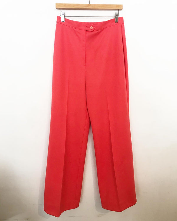 1970's Coral Polyester Pants