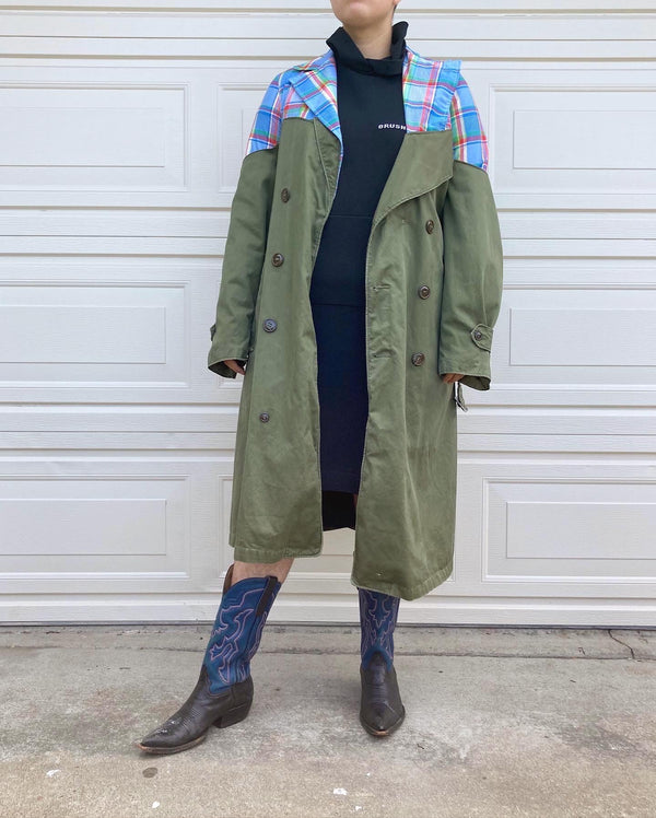 Upcycled Blazer Trench Coat