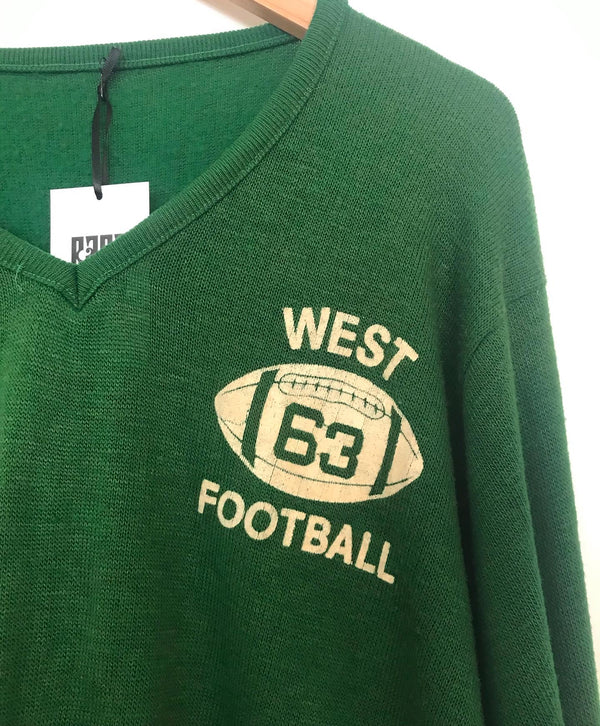 1960's Green West Football Sweater