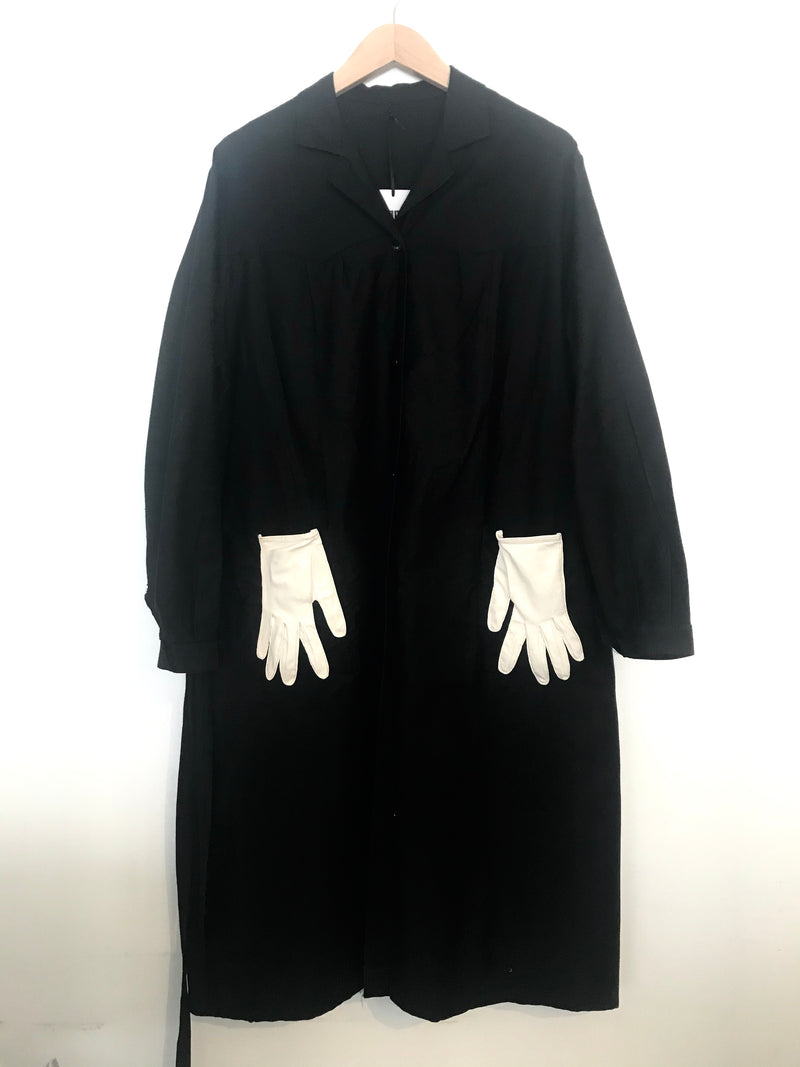 1960's Black French Chore Dress