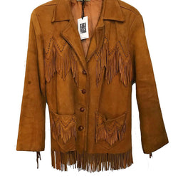 Vintage Pioneer Wear Leather Western Jacket