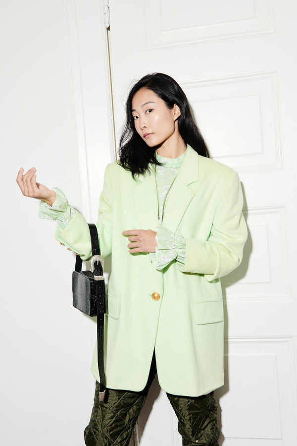 1980's Light Green Cashmere Escada Blazer