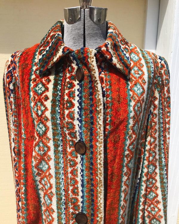 1960s Vogue Paris Carpet Coat