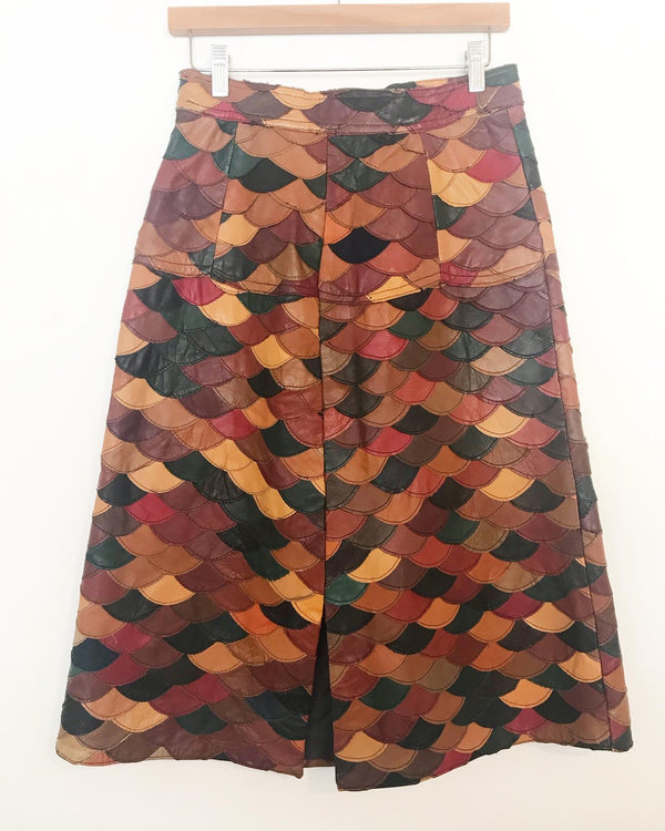 1970's Fish Scale Leather Skirt