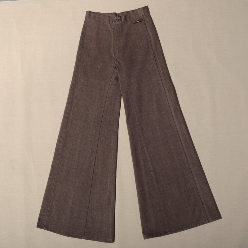 1960's Brown High Waist Flare Pants