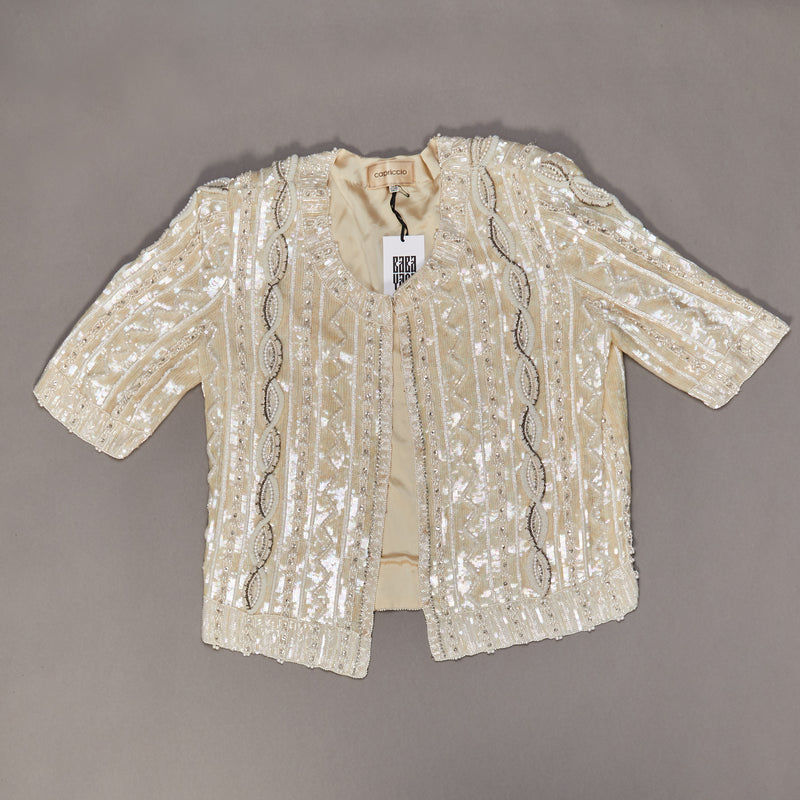 1980's Capriccio Sequin & Beaded Jacket