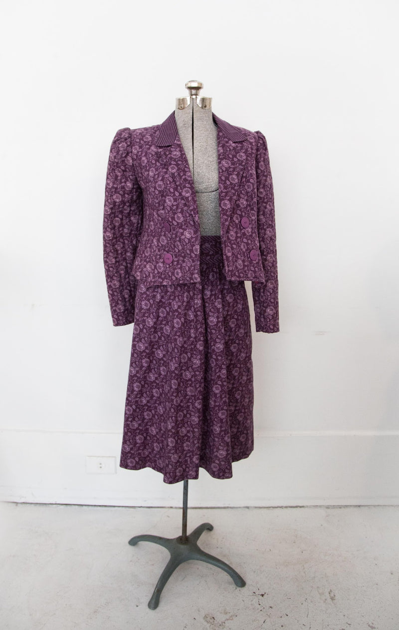 70s Gunne Sax quilted jacket and skirt set