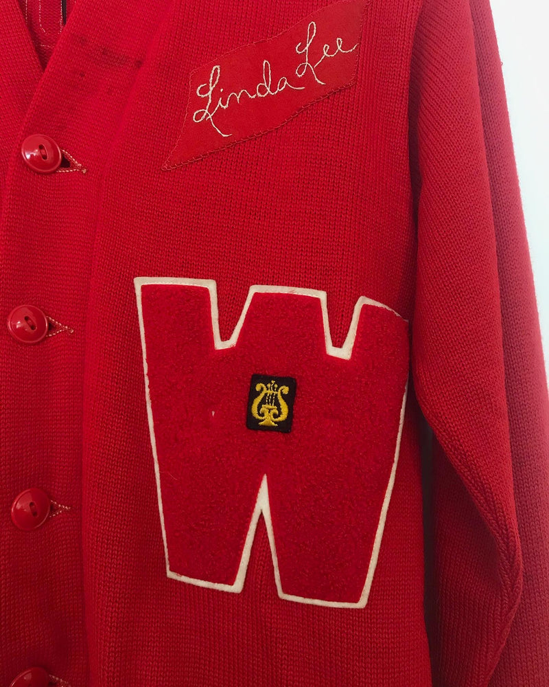 1960s Wyandotte letterman sweater cardigan
